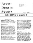 August Derleth Society Newsletter, 1977
