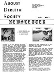 August Derleth Society Newsletter, Feb. 1978