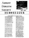 August Derleth Society Newsletter, Aug. 1978