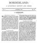 Borderland, October 1893