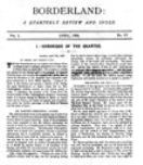 Borderland, January 1894