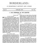 Borderland, January 1895