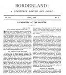 Borderland, July 1896