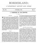 Borderland, October 1896