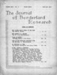 Journal of Borderland Research, September 1970