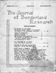 Journal of Borderland Research, March 1973