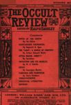 Occult Review, December 1909