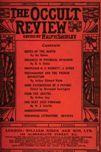 Occult Review, September 1911