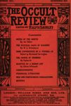 Occult Review, October 1911