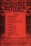Occult Review, March 1912