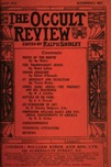 Occult Review, August  1912