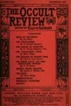 Occult Review, September 1912