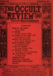 Occult Review, October 1912