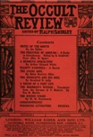 Occult Review, January 1913