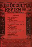 Occult Review, September 1913