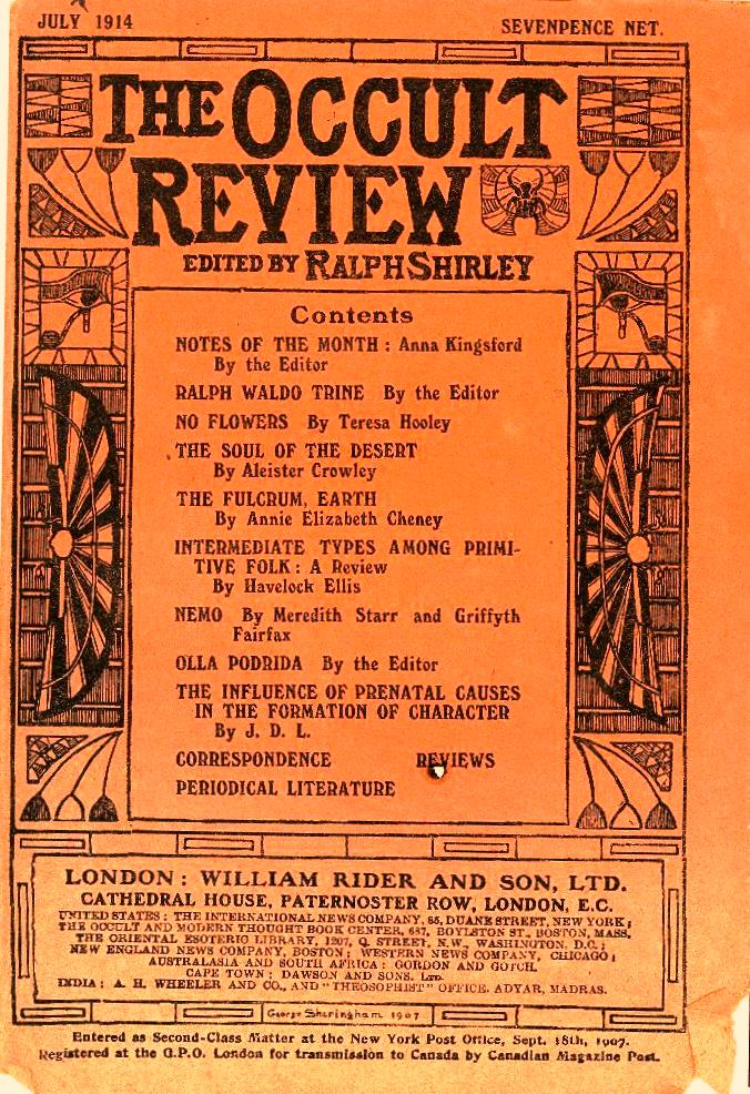 The Occult Review, July 1914
