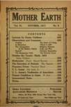 Mother Earth, October 1911