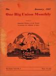 One Big Union Monthly, January 1937
