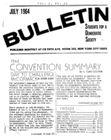 S.D.S. Bulletin, July 1964
