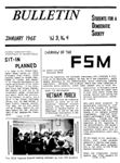 S.D.S. Bulletin, January 1965