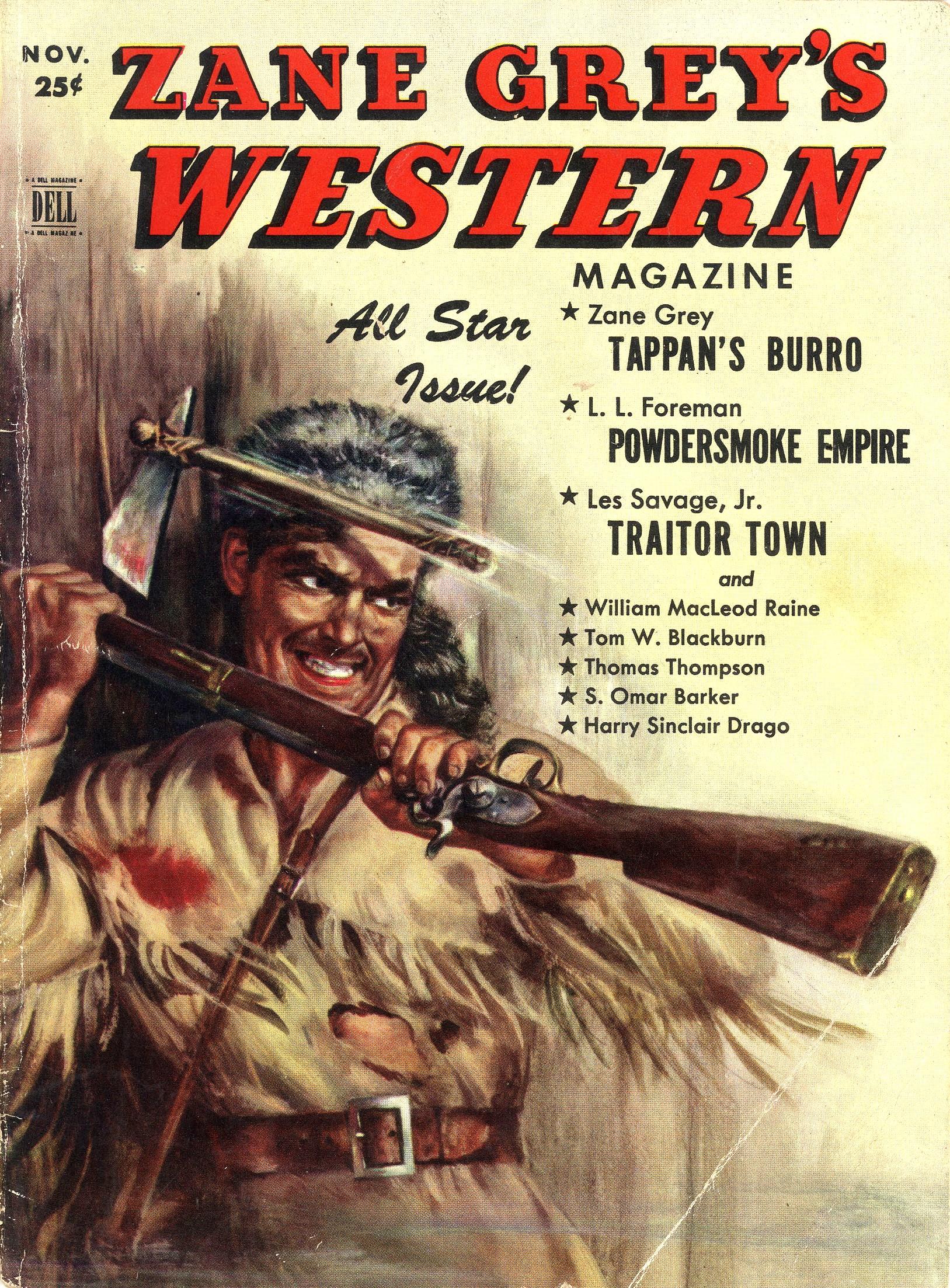 Zane Grey's Western Magazine, November 1951