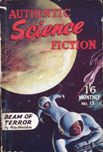 Authentic Science Fiction, September 1951