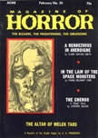 Magazine of Horror, February 1971