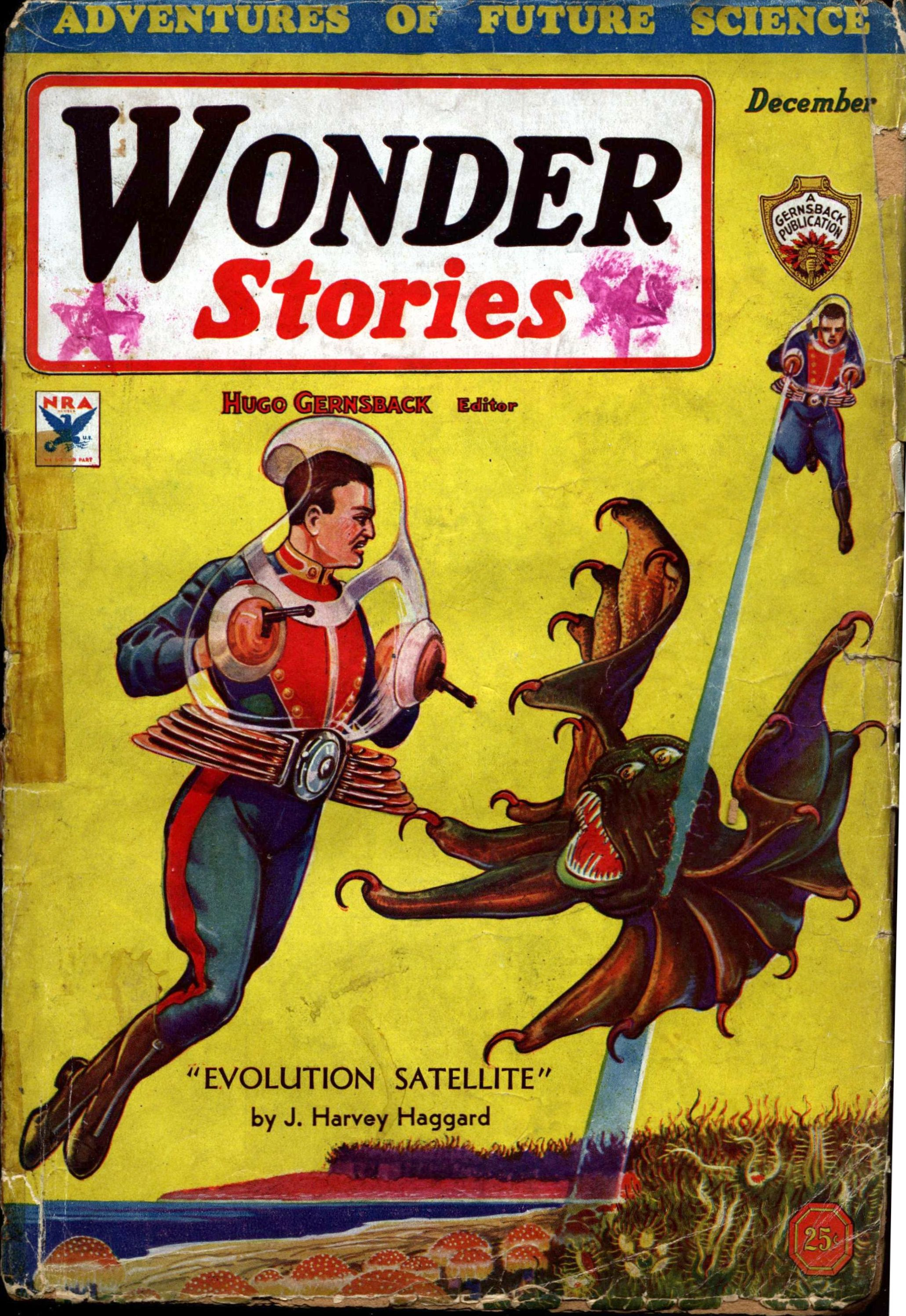 Wonder Stories, December 1933