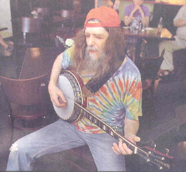 Dale R. Gowin performing at the Lucky Moon Coffee House in Syracuse, New York
